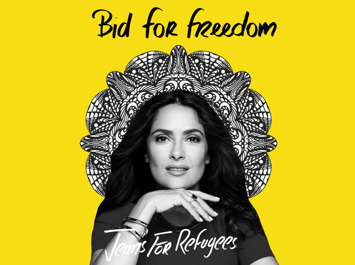 Salma Hayek's - Jeans for Refugees