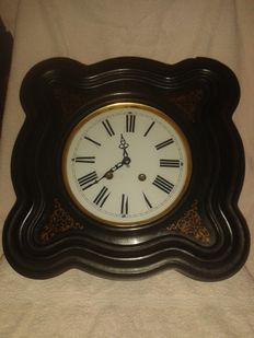 Black forest Biedermeier frame clock - Black Forest / South Germany - second hald of the 19th century century