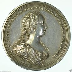 Austria - Silver medal 1745 by A. R. Werner & P. P. Werner on the Restoration of Peace in Germany after Austrian War of Succession