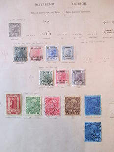 Levant Autrichien – Collection of stamps including tax