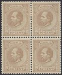 Check out our The Netherlands 1888 - King Willem III - NVPH 27L in block of four, with inspection certificate