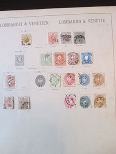 Italy, Lombardy and Venice - 1850/1864 - stamp collection