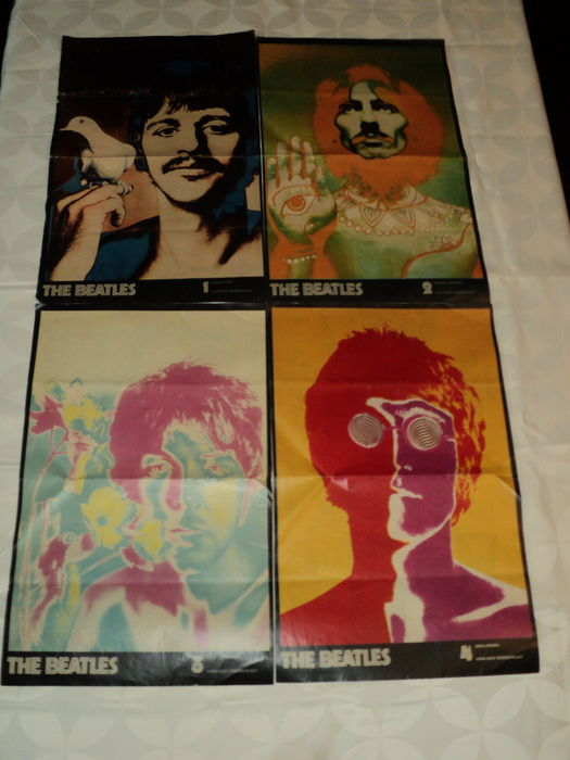 Four Beatles Posters By Richard Avedon - Catawiki