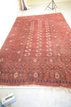 Hand knotted Afghan carpet, 382 x 242 cm – Afghanistan – first half 20th century