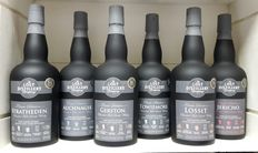 "6 bottles of ""The Lost Distillery Company"" 1x Stratheden 43% - 1x Auchnagie 43% - 1x Gerston 43% - 1x Towiemore 43% - 1x Lossit 43% - 1x Jericho 43% ( 6 bottles of 700ml each )"