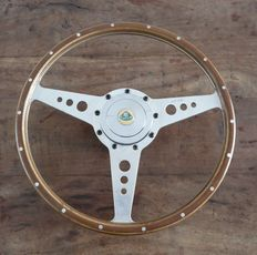 Genuine Original Moto Lita 15 inch ( 38cm) Lotus Wooden Steering Wheel (flat)