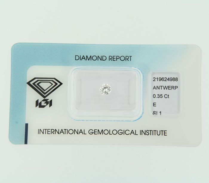 0.35 ct brilliant cut diamond, E, SI1
