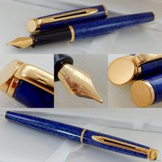 Waterman Hemisphere Marble Blue Lacquer GT Vulpen | New Old Stock / Mint Condition