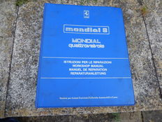 Vintage Original Ferrari Mondial 8 Mondial Quattrovalvole Workshop Manual in 4 Languages Printed in Italy Very Good Condition