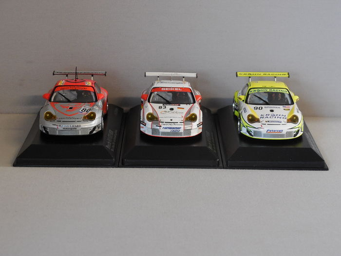 minichamps scale 1 43 lot with 3 x porsche 911 gt3 rsr 24h le mans 2006 catawiki. Black Bedroom Furniture Sets. Home Design Ideas
