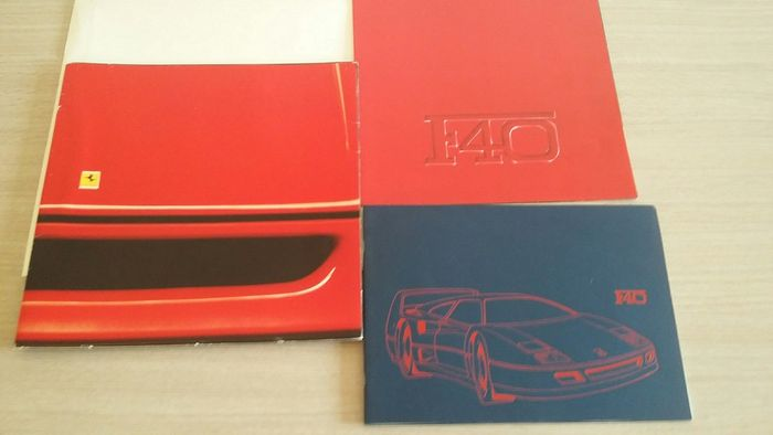 3x Ferrari F40 Brochure/Press binder