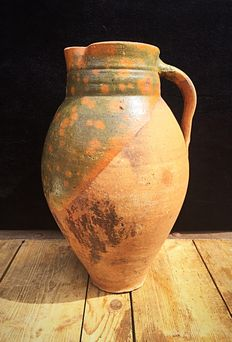 Oenocho terracotta wine jug, late 19th century, Greece