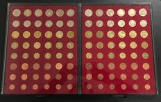 Europe – year series of the first 12 Euro countries in coin coffers.