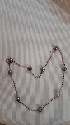 Choker – gold, pearls, spinel and black diamonds