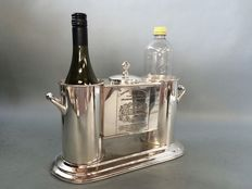 Wine cooler for two bottles and ice container in the middle, end 20th. century