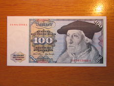 Germany - 100 German Marks 1970 - ZN /... A - Exchange note (replacement) - Rosenberg 273c