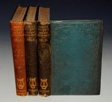 Thomas Percy - Reliques of Ancient English Poetry + other 19th century poetry books - 8 volumes - 1858/1890