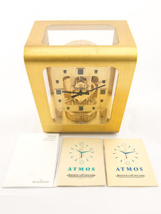 Jaeger-LeCoultre Atmos COLANI  – table clock, gold plated 70s