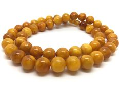 Necklace Baltic Amber opaque dark egg yolk, 34 g