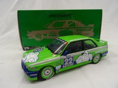 Minichamps - Scale 1/18 - BMW M3 E30 Team Alpina #22 Double Winner Hockenheim DTM 1988 - Driver CH, Danner