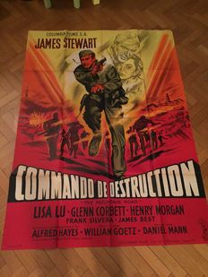 WW2 war movies - 6x original French cinema posters - The Mountain Road, PT 109, Operation Crossbow