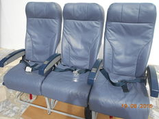 Economy Class Triple Chair of an A320 Aeroplane from Tap