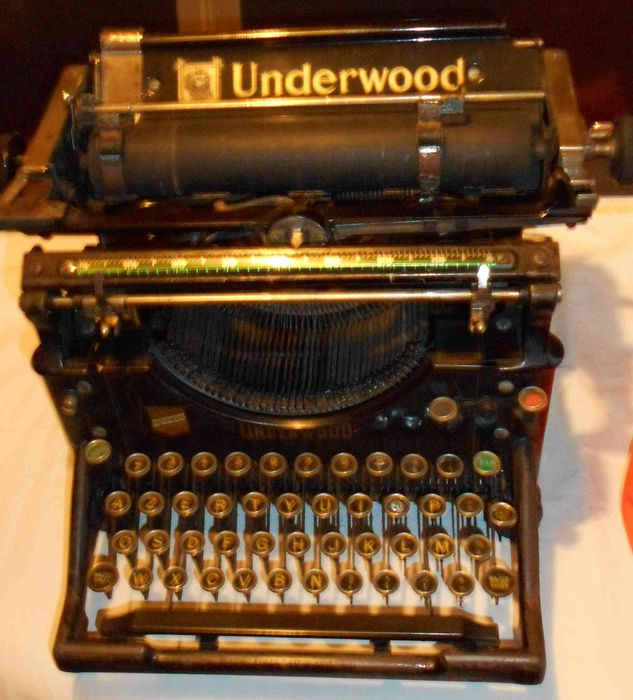 Machine crire underwood mod le n 5 1915 catawiki - Machine a ecrire underwood ...