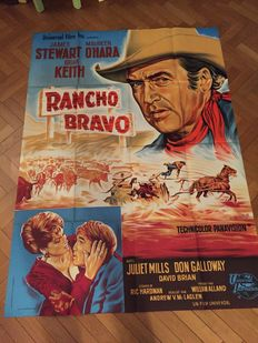 Western movies - 14x official original French and one US posters - Rancho Bravo, The Last Sunset/ El Perdido, Last Train from Gun Hill