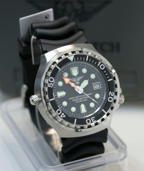 army watch germany by eichm ller diver 39 s watch 1000m. Black Bedroom Furniture Sets. Home Design Ideas