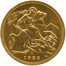 South Africa – Sovereign 1930, George V, gold