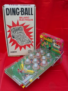 Vintage toy pinball game DING-BALL Billard électrique FLIPPER pinball 1959 France Jouets, France