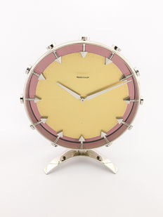 Jaeger-LeCoultre table clock with eight-day movement, 1960s