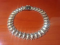 Beautiful gold, 14 kt fantasy link bracelet from the 1950s.