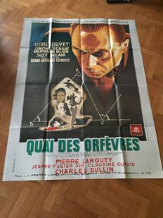 French movies - 12x original vintage French movie posters - different sizes - including Le Corbeaux and Quai des Orfèvres