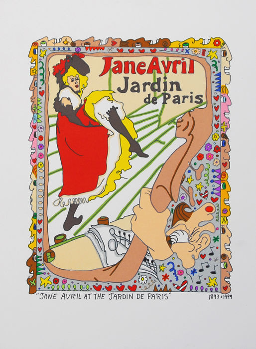 James rizzi jane avril jardin de paris catawiki for Jardin de paris jane avril