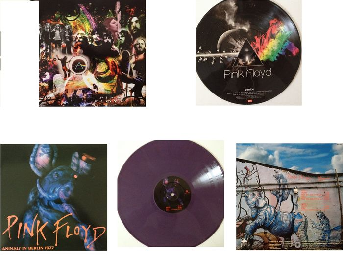 Pink Floyd Lot Of Two Very Collectable Picture Disc  &  Coloured Vinyl