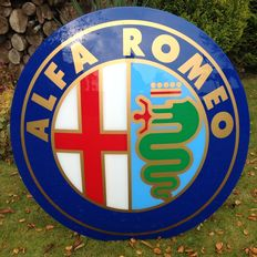 Alfa Romeo - large original lightbox, dealership sign - diameter 130 cm