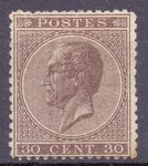 Check out our Belgiu 1865 - 30 ct King Leopold I in profile - OBP 19