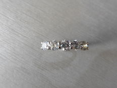 Platinum Diamond Five Stone Ring - 0.75ct - size 53