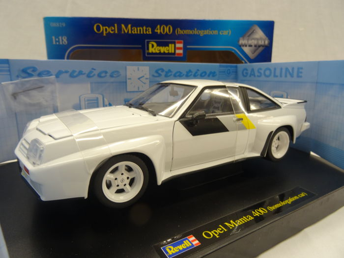 revell scale 1 18 opel manta b 400 homologation car colour white catawiki. Black Bedroom Furniture Sets. Home Design Ideas