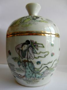 Storage pot with lid - China - circa 1920