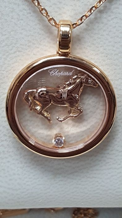 Chopard rose gold necklace with horse pendant limited edition chopard rose gold necklace with horse pendant limited edition only 150 pieces aloadofball Image collections