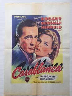 Casablanca, Barnabé, The Sea Hawk,  Snow White, Arabian Nights - reprint movie posters - Humprey Bogart, Fernandel, Ingrid Bergman, Errol Flynn, Disney
