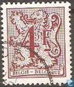 Postage Stamps - Belgium [BEL] - Digit on heraldic lion and streamer