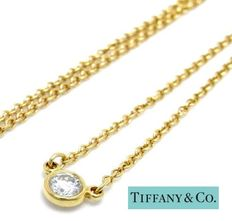 Tiffany & Co. – Elsa Peretti 'Diamonds by the Yard' - 18 kt gouden solitaire ketting met diamant