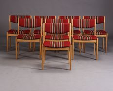 Borge Mogensen for FDB - Set of 8 chairs