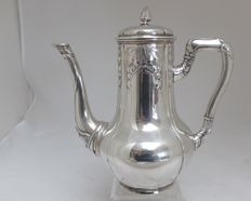Silver coffee pot, Art Nouveau, Wilkens, Germany, 1880-1920
