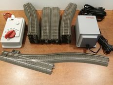 Märklin H0 - 67025/66191/24130/188/171/244 - C-Rail oval with a shunting track, control set/running regulator  Delta/Digital, Transformer 18 VA and more