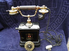 Antique JYSDK telephone with dial - Telefon Aktieselskab Jutland - Denmark - 1st half 20th century