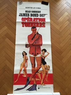 "James Bond - Thunderball - French Original poster - Very rare ""Pantalon"" poster - size 60x135"